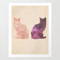 Cosmic Cats Art Print