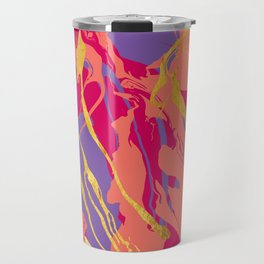 Bohemian Marble with Gold Travel Mug