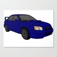 subaru Canvas Prints featuring Subaru STi  by tracyannostrander