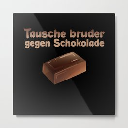 Chocolate Brother Siblings Metal Print