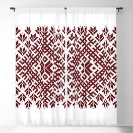 Latvian Traditional Folk Belt Design Pattern Blackout Curtain
