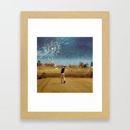 Broken Glass Sky Framed Art Print