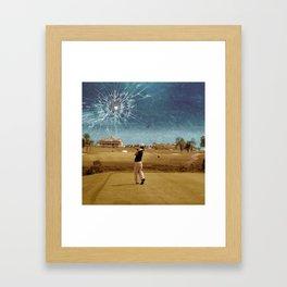 Broken Glass Sky Framed Art Print