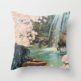 The Faun and the Mermaid Throw Pillow