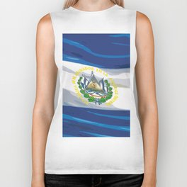 El Salvador Fancy Flag Biker Tank