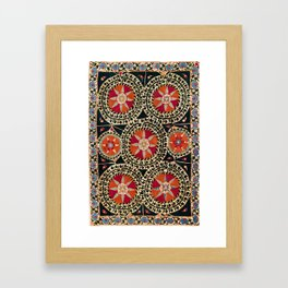 Katti Kurgan Suzani Uzbekistan Embroidery Print Framed Art Print