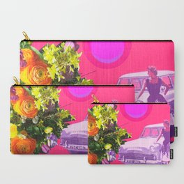 The Unimpressed Tourist (pink version) Carry-All Pouch
