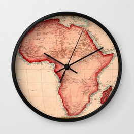 Map Of Africa 1844 Wall Clock