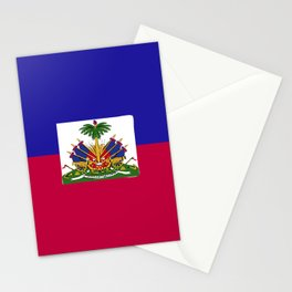 Haiti flag emblem Stationery Cards