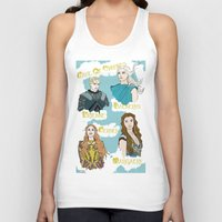 thrones Tank Tops featuring Game Of Thrones  by JessicaJaneIllustration