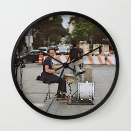 Drummer in the Park Wall Clock