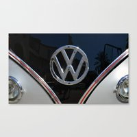 vw bus Canvas Prints featuring VW Bus by Film & Pixels