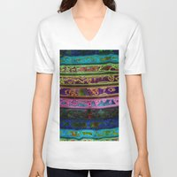 coachella V-neck T-shirts featuring Coachella by RingWaveArt