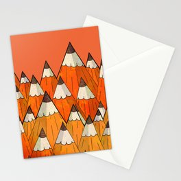Pencil Mountains Stationery Cards
