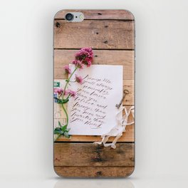 promise me iPhone Skin