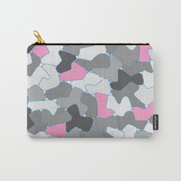 Stone Wall Drawing #2 Pink Carry-All Pouch