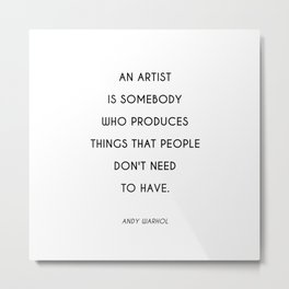 Raggedy Andy | Art Saying Quote Metal Print