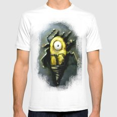 Abstract Robot  Artwork Mens Fitted Tee MEDIUM White