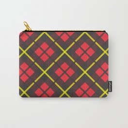 Red and black plaid pattern Carry-All Pouch