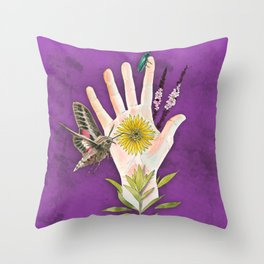 Prairie Hand 2 (Purple) Throw Pillow