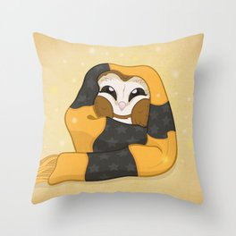 Cozy Barn Owl Throw Pillow