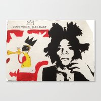 basquiat Canvas Prints featuring Basquiat by JahMarie