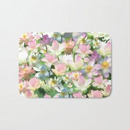 Lotus bloom Bath Mat