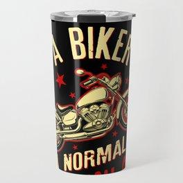 Mens I Am A Biker Papa design - Gift for Grandpa Motorbikes Travel Mug