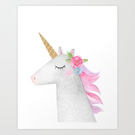 Glitter Unicorn Art Print