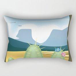 Desert and cactus Rectangular Pillow