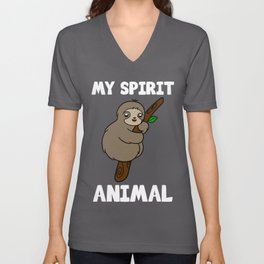Cute Sloth My Spirit Animal T-Shirt Unisex V-Neck