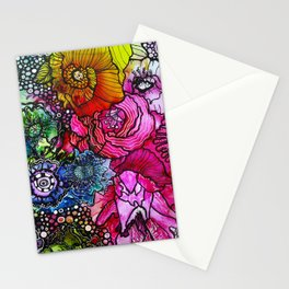 Abstract Floral 2 Stationery Cards