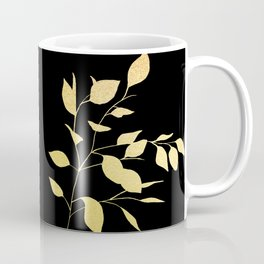 Gold & Black Leaves Coffee Mug