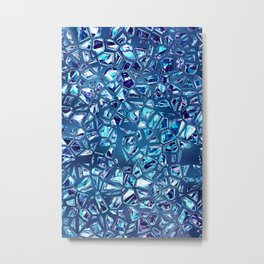 Shattered Abstract Crystals Metal Print