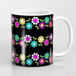 Mod Flowers Stripe Coffee Mug