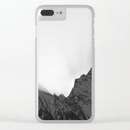Sunrise black & white Clear iPhone Case