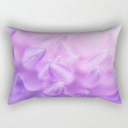 Pearl Petal Kiss | pink flower, pastel flowers, purple floral pattern, cute dahlia petals, macro Rectangular Pillow