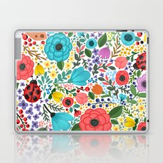 Colorful Vintage Spring Flowers Laptop & iPad Skin