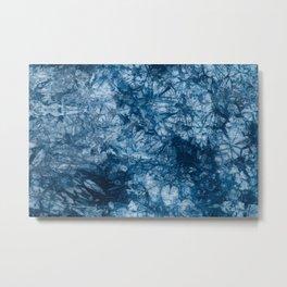 Acidwash Tie-Dye Denim Blue Fabric Texture Surface 60 Metal Print