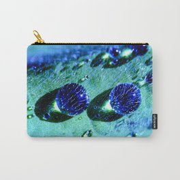 Blue raindrops water pearls Carry-All Pouch