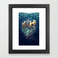 Poseidon's Heart Framed Art Print