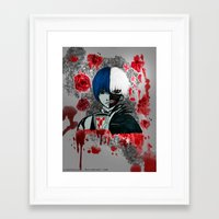tokyo ghoul Framed Art Prints featuring Tokyo Ghoul by Lunah