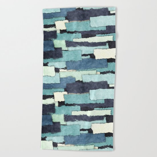 Layers of Colors Pattern Beach Towel