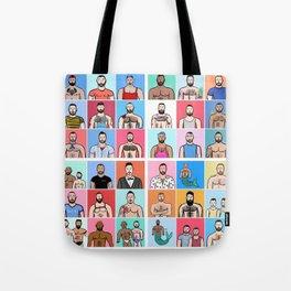 Beard Boy: Collage Tote Bag