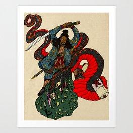 Jiraiya Samurai Art Print