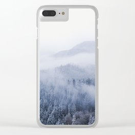 Snowy Washington Mountains from Above Clear iPhone Case