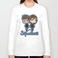 supernatural Long Sleeve T-shirts featuring Supernatural by Alex Mathews