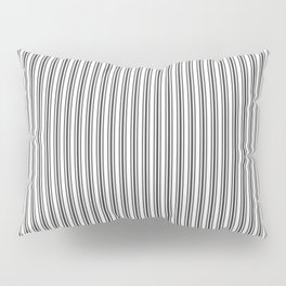 Trendy French Black and White Mattress Ticking Double Stripes Pillow Sham