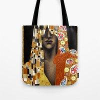 klimt Tote Bags featuring Klimt Me by Estúdio Marte