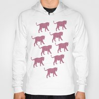 tigers Hoodies featuring Pink Tigers by ANIMALS + BLACK